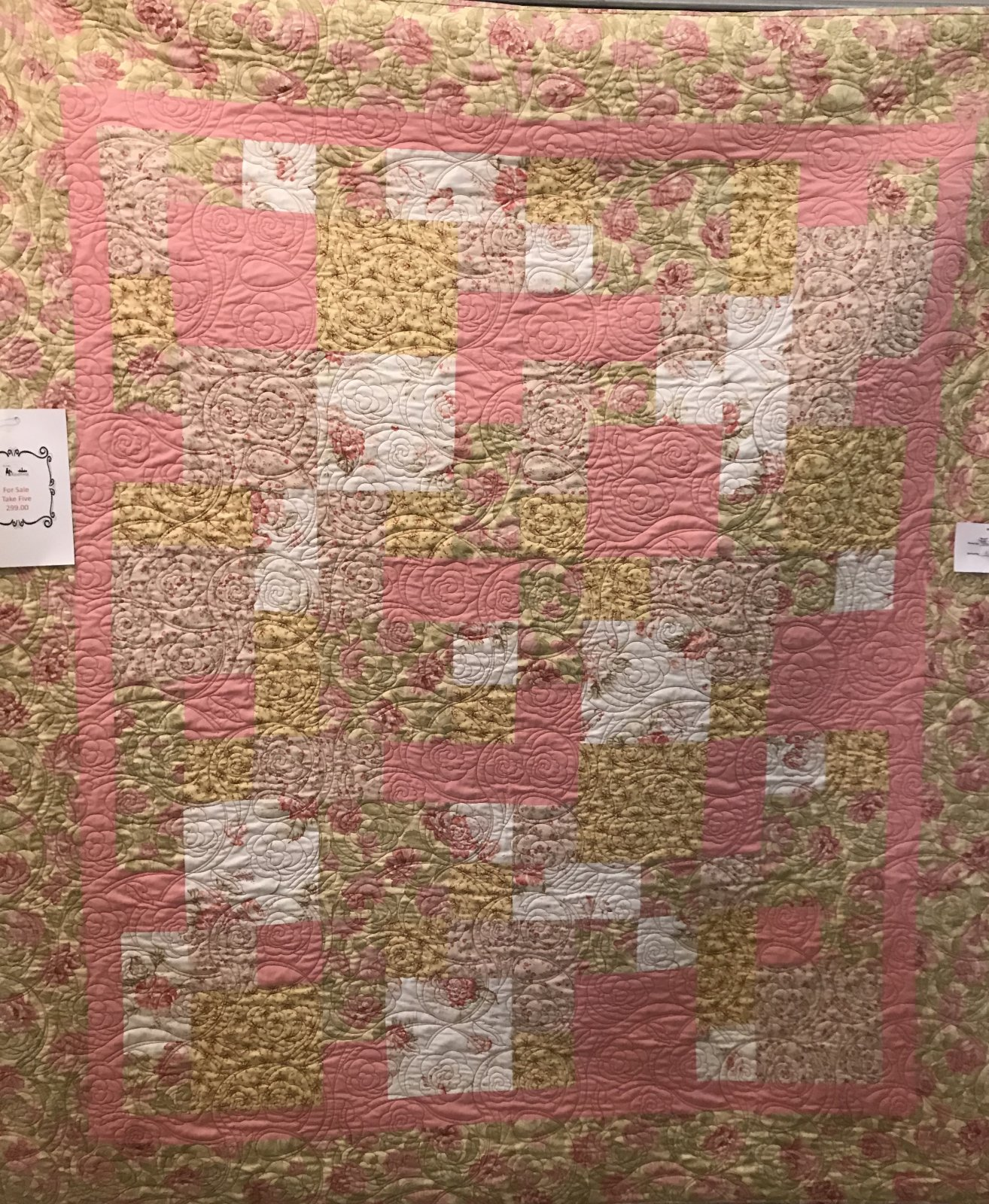 Take Five Quilt - Pieced by Kelee Guillory - quilting by Six Mile Quilting