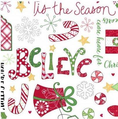 Jingle All The Way - White - Words - Toss - Christmas - Maywood Studio - Checkers - 8247M-W - 714329565477