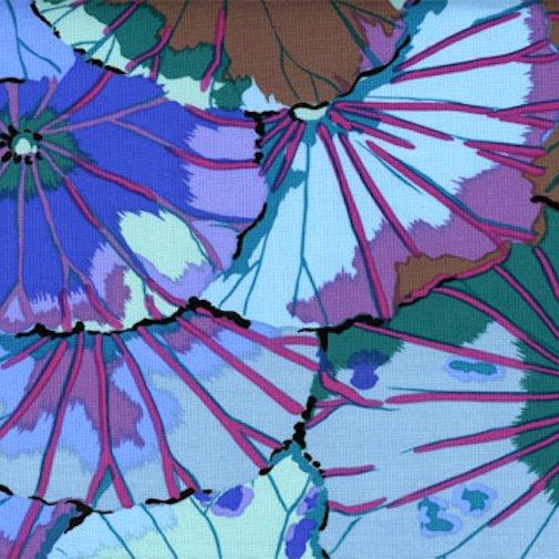 Kaffe Classics - Lotus Leaf - Blue - Floral - Kaffe Fassett - GP029.Blue - 884424008268