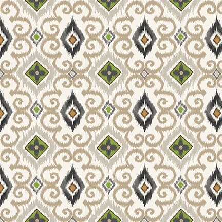Magnolia Mania - Ivory Ikat - 9849-41 Ivory - Blank Quilting