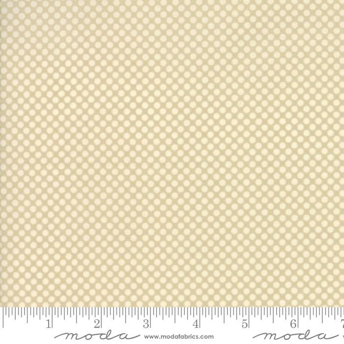 Merry Go Round - Putty with White Polka Dots - Moda - American Jane - 752106358102 - 21725 19