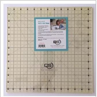 Select 12.5 x 12.5 Ruler -  QS-RUL12.5N - Quilters Select - Alex Anderson -  844050003082 - QS-RUL12.5