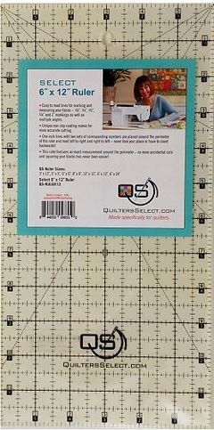 Select 6 x 12 Ruler -  QS-RUL6X12 - Quilters Select - Alex Anderson - 844050098552 - QS-RUL6X12