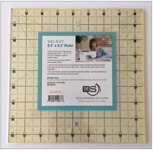 Select 8.5 X 8.5 Ruler -  QS-RUL8.5 - Quilters Select - Alex Anderson - 844050099733 - QS-RUL8.5