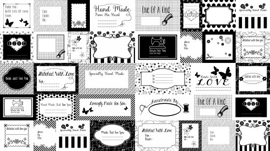 Small Talk - Black and White Labels - Studio E - 3140P