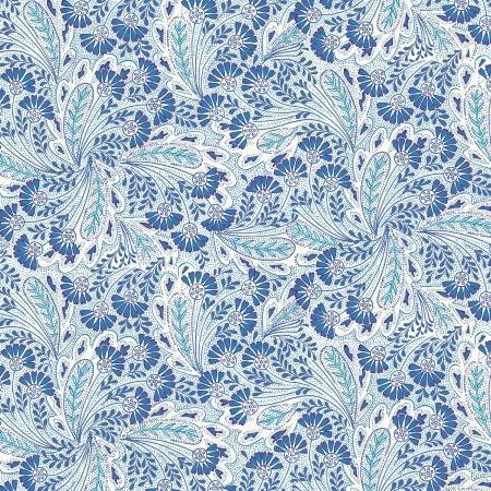 Summer House - Feather Dance Blue - Liberty Fabrics - Riley Blake - 04775673X - 889333145936