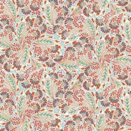 Summer House - Feather Dance Red - Liberty Fabrics - Riley Blake - 04775673Y - 889333145943