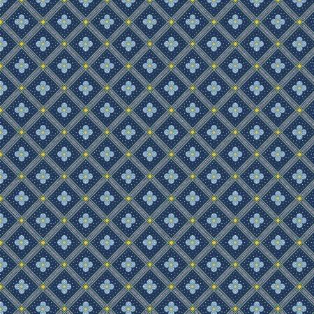 Summer House - Manor Tile Navy - Liberty Fabrics - Riley Blake - 04775671X - 889333146018