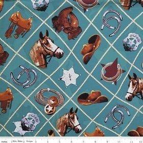 Sundown - Western - Main Turquoise - Penny Rose Fabrics - C4880
