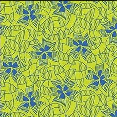 Urban Classics - Yellow with Blue Flowers - Nancy Mahoney - P & B Textiles