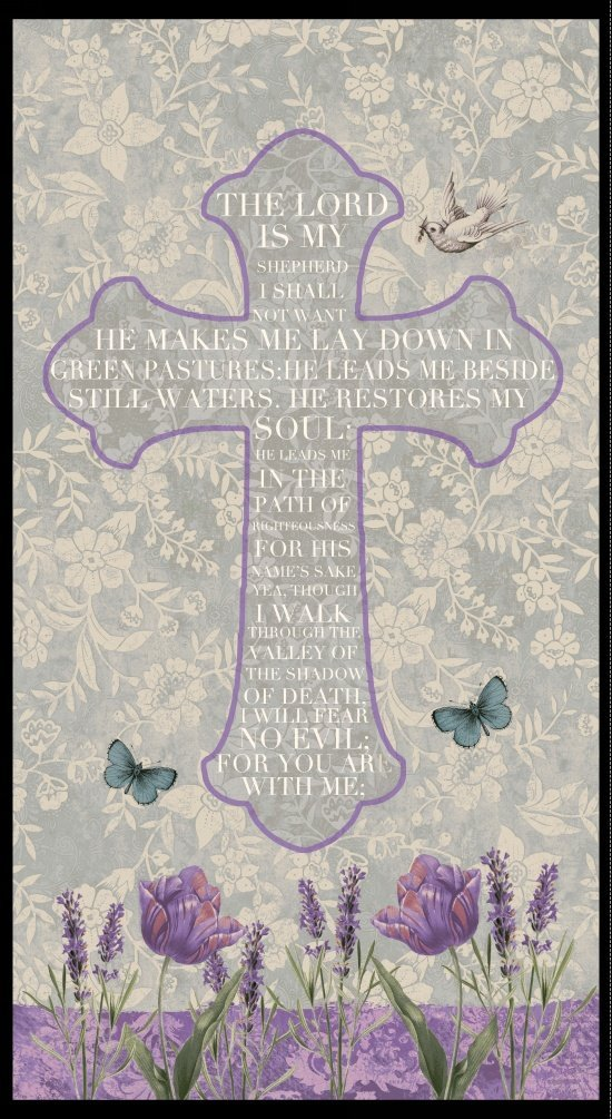 Walk by Faith - Cross Panel 24 - Blank Quilting - 8886P-90