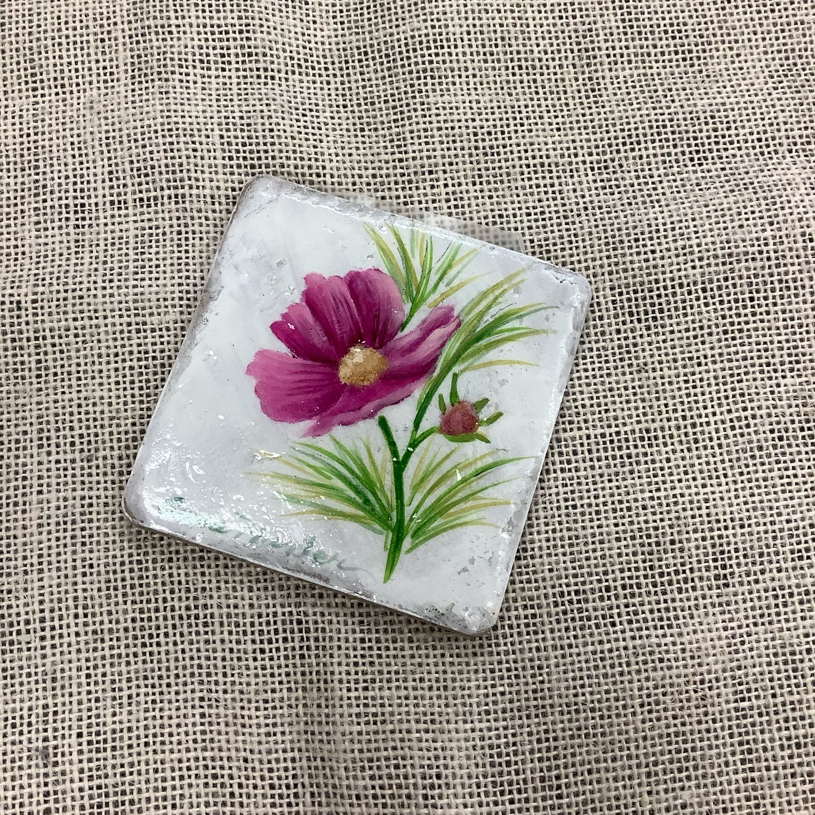 15-Floral Coasters/Tiles