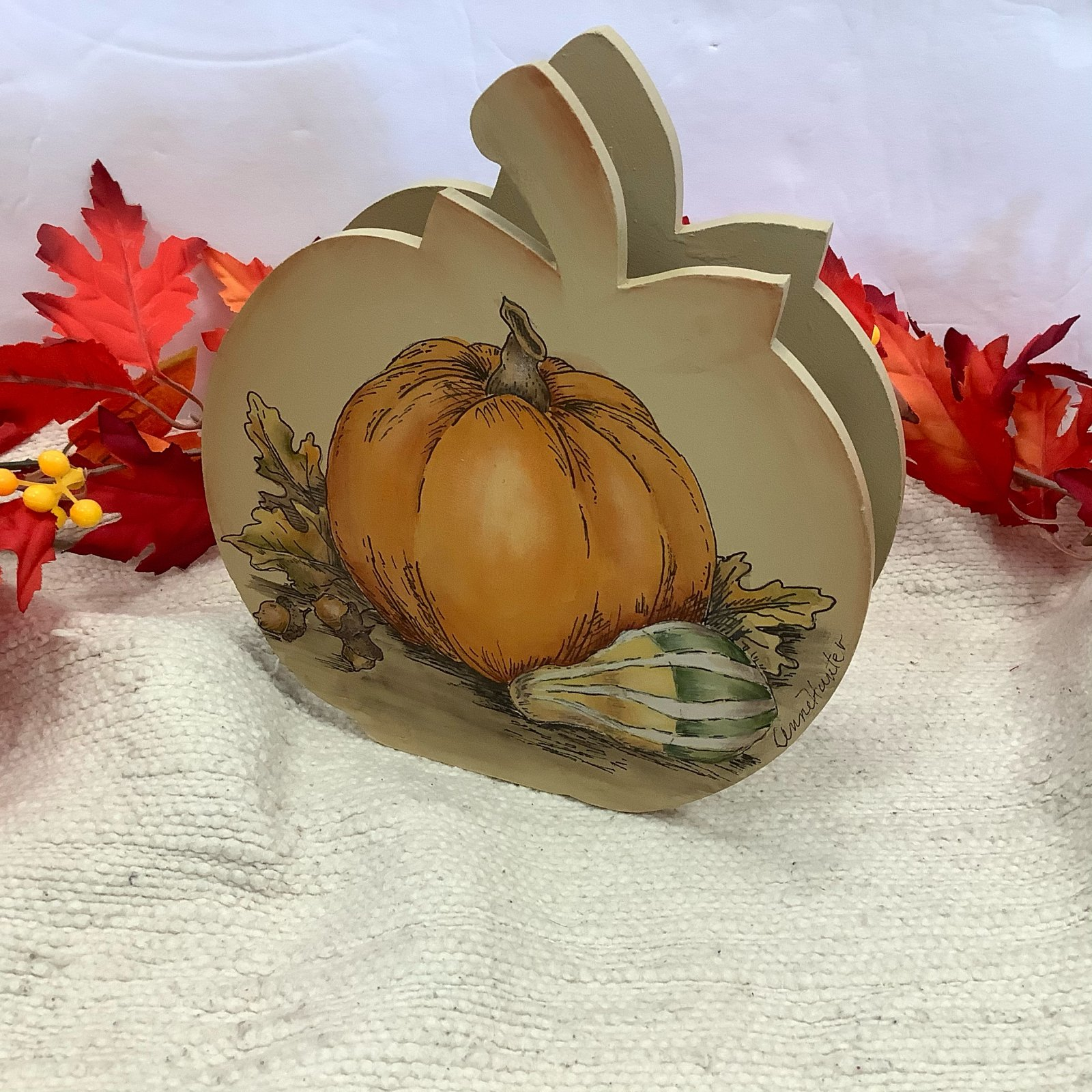 15-Pumpkin Napkin Holder