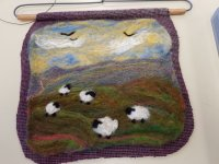felted landscape picture