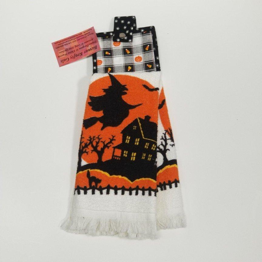 23-Halloween Quilt Kitchen Towel