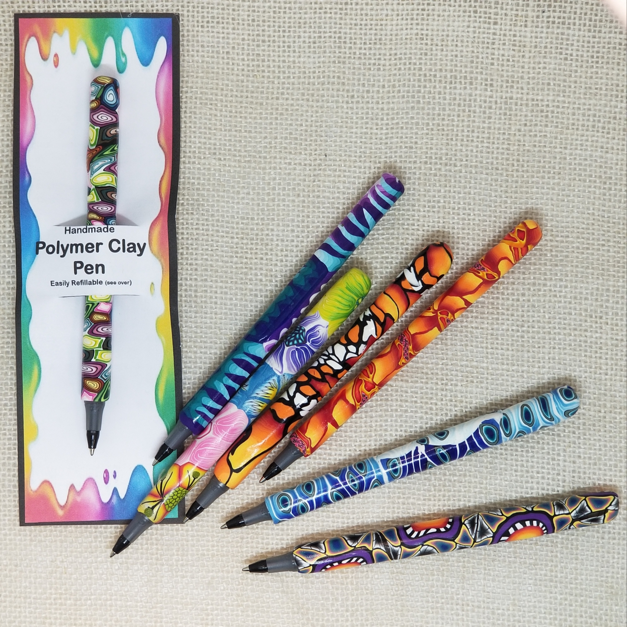 977-Pens - Polymer Clay