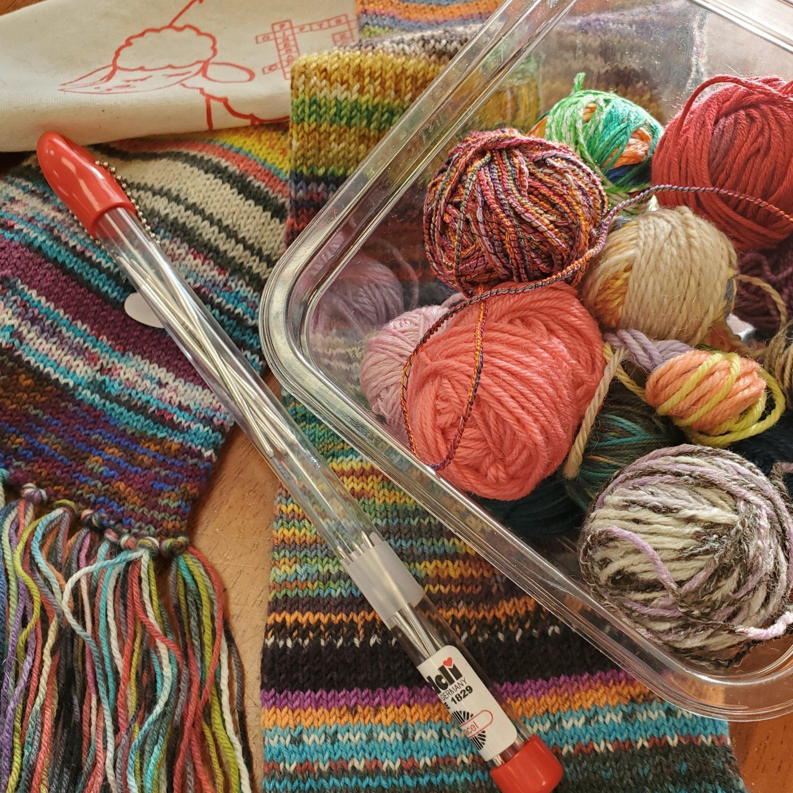 Sock-Yarn Scarf Kit / gift set