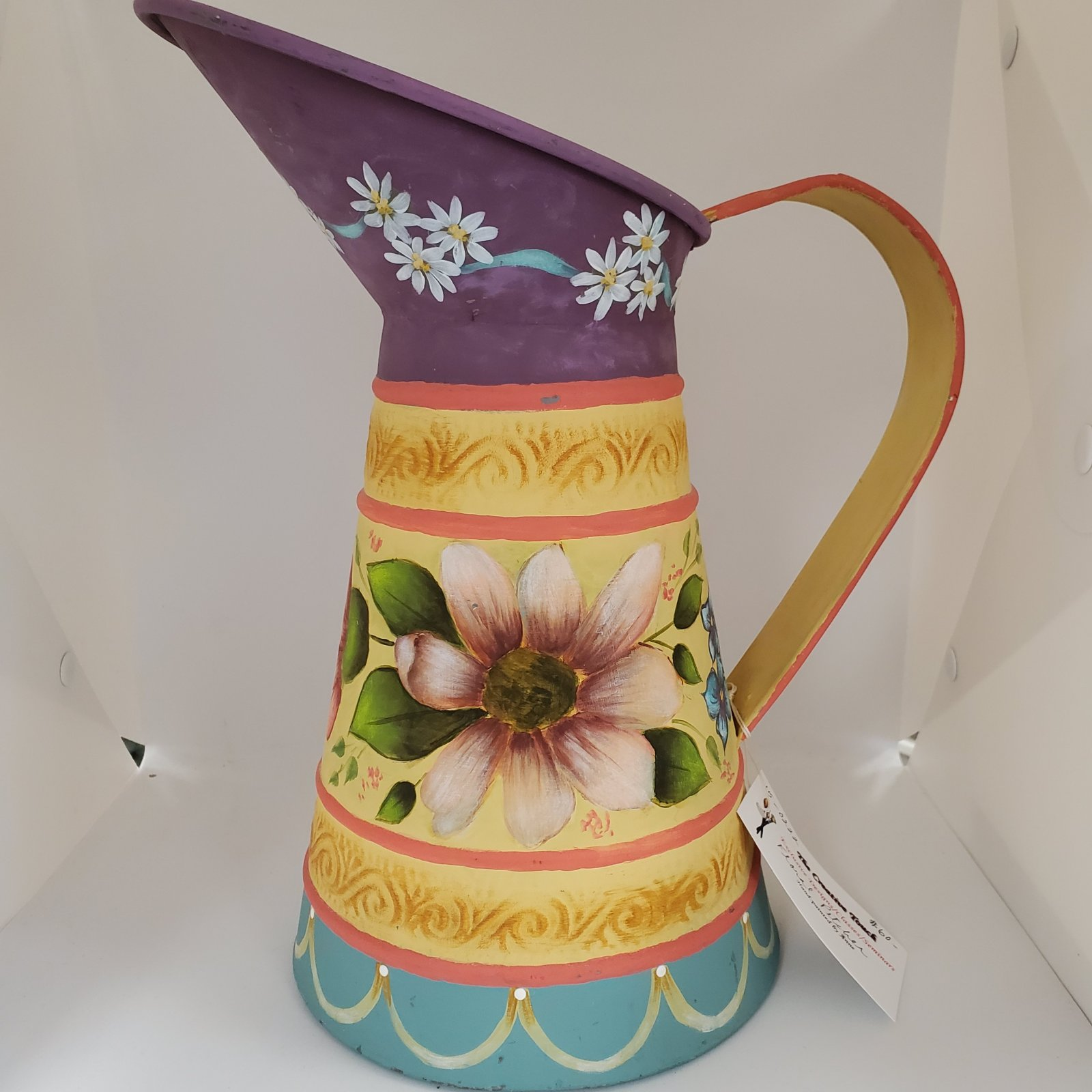 15 - floral pitcher