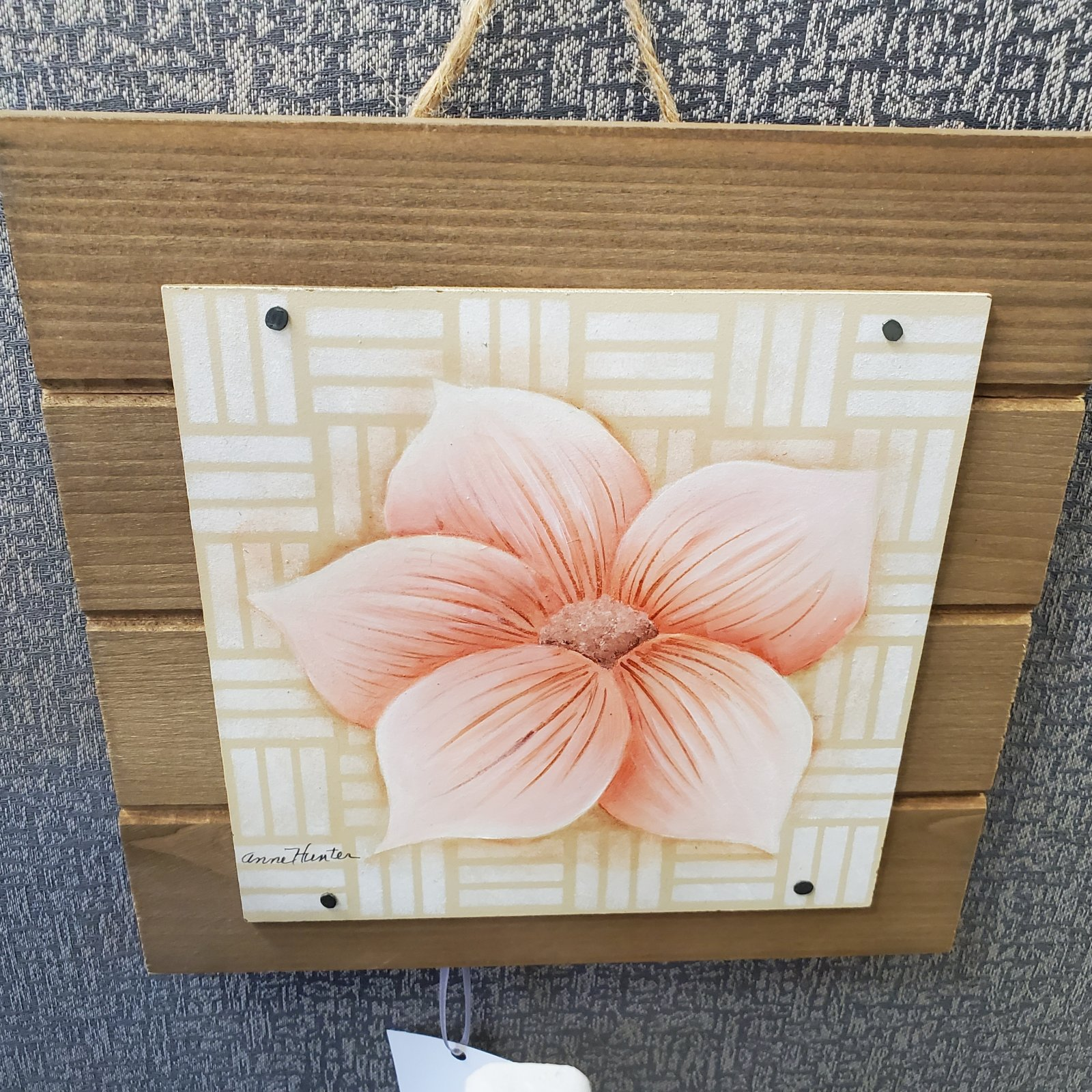 15-Painted Plaque with Blossom