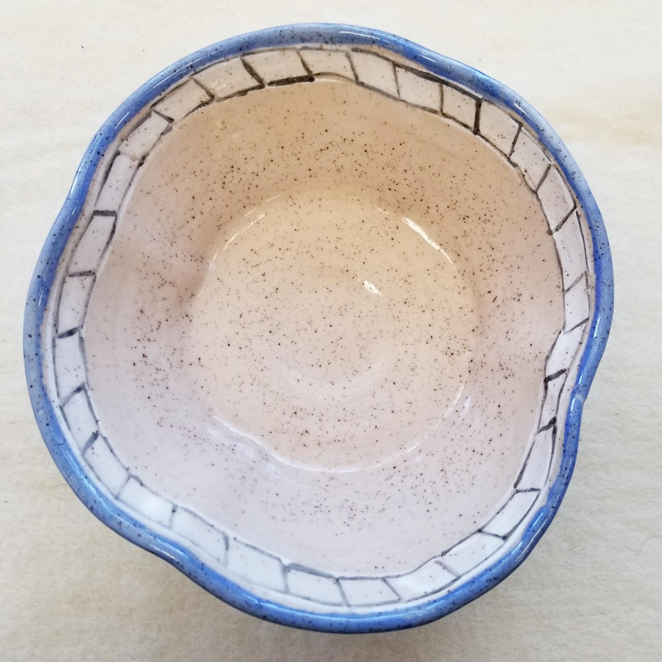 79-9 inch Bowl, Tri-Tone Decorated