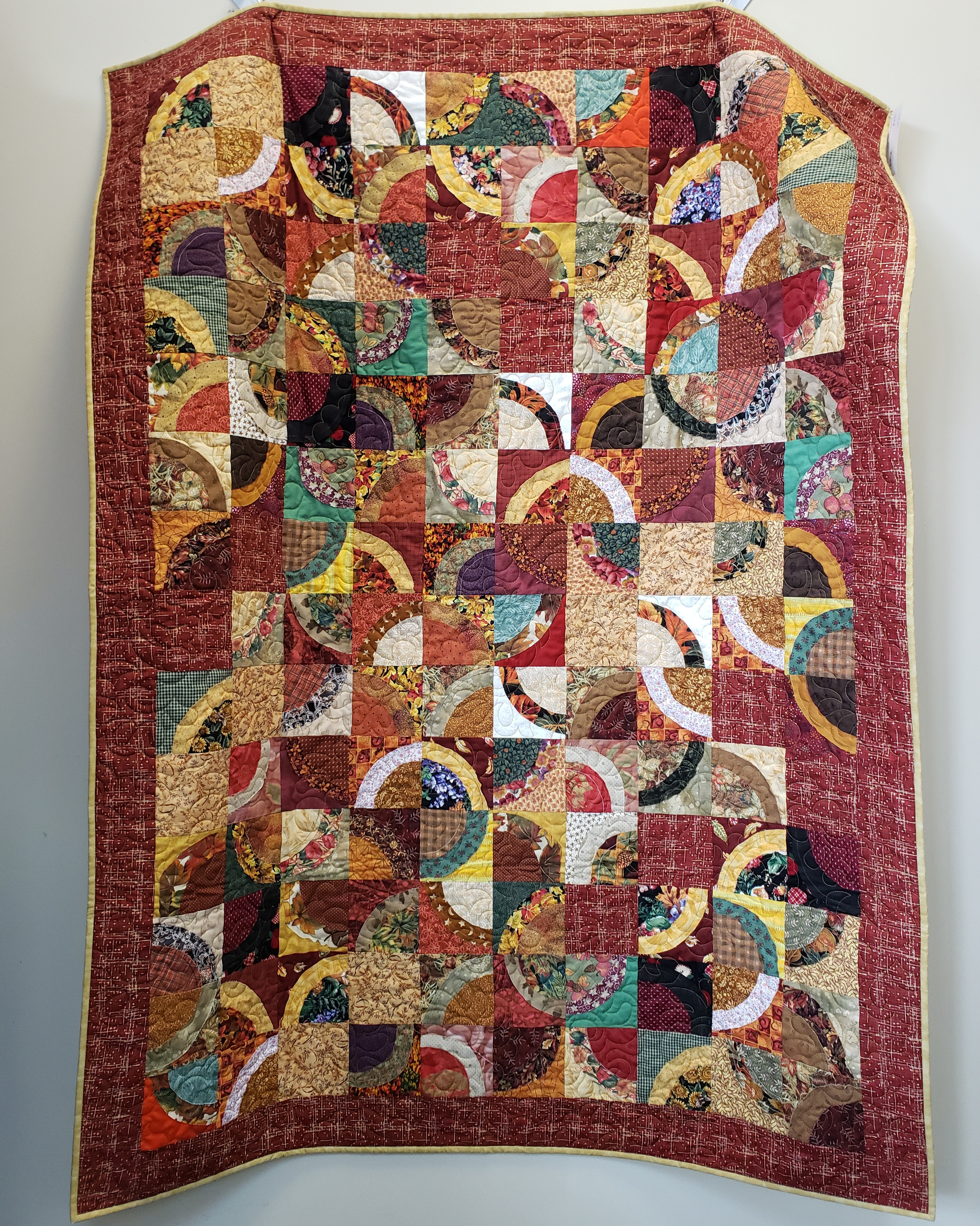 23-Circle Quilt, 63 x 45in