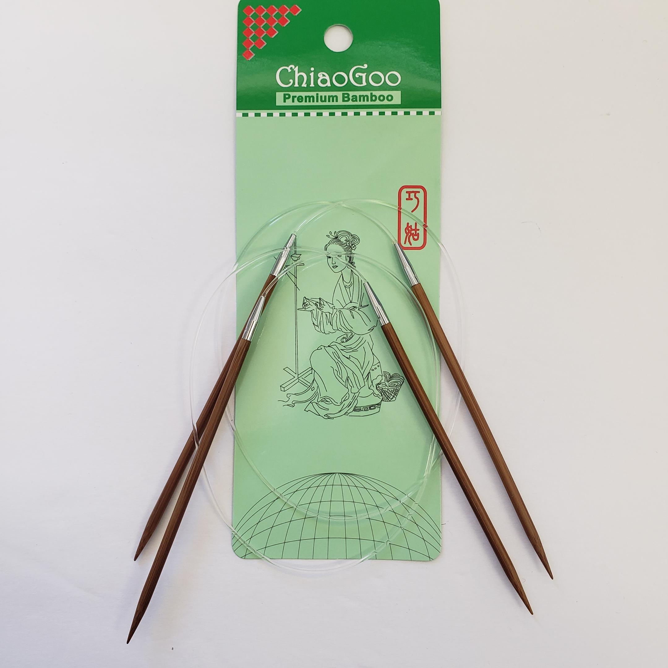 ChiaoGoo Bamboo Patina 24 Circular Needles