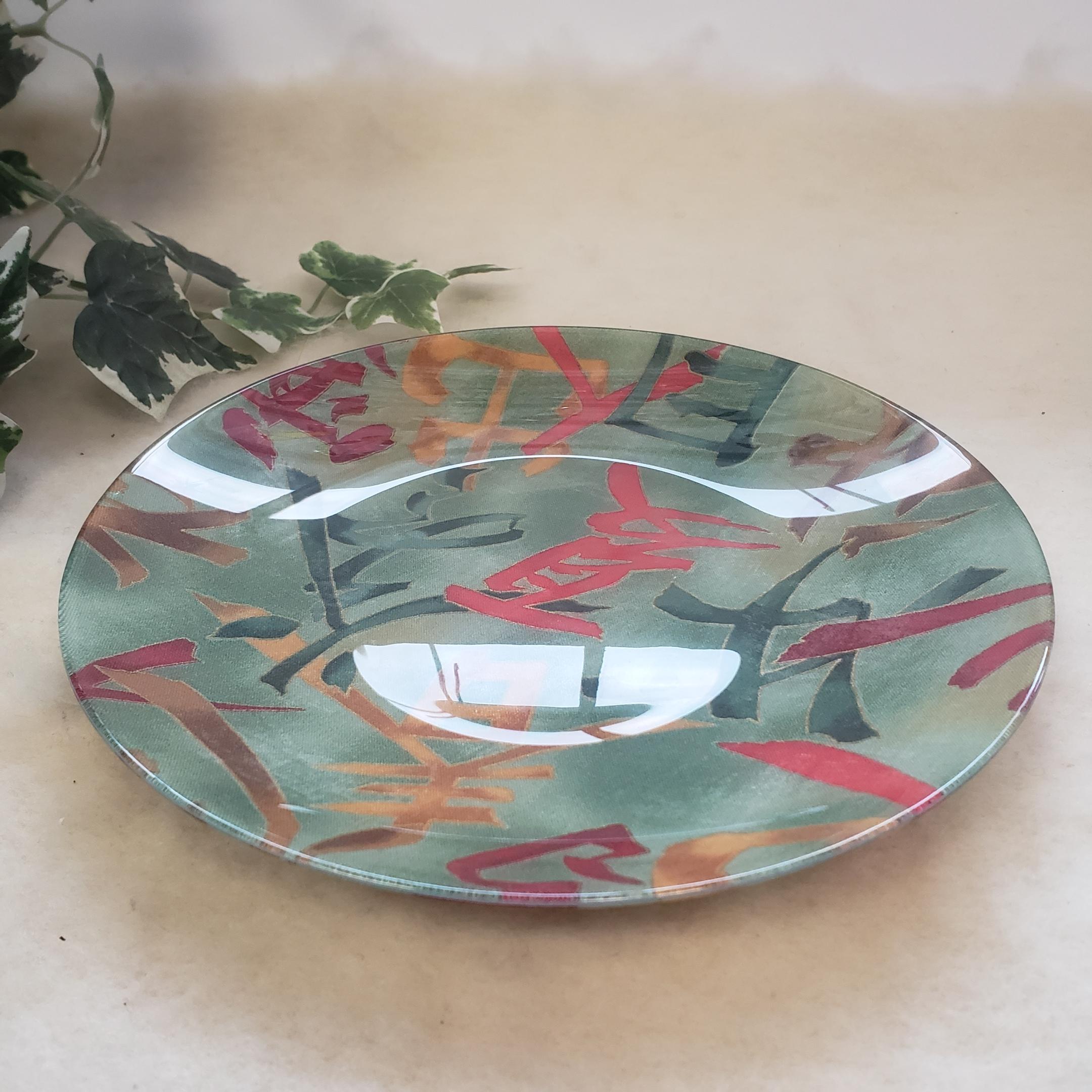 63-Decoupage Glass Dishware