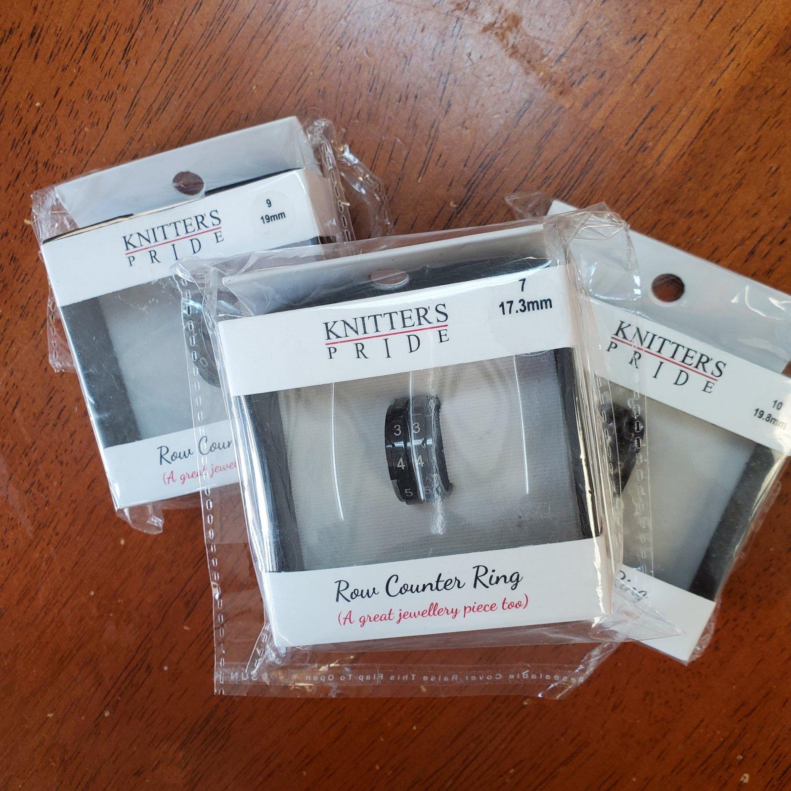 Row Counter Rings Black / Knitter's Pride