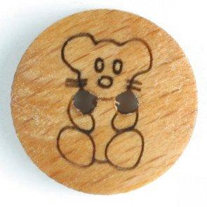 Novelty Wood 5/8(15mm) - Teddy Bear