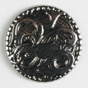 Metal Fashion Button 15/16(23mm) - Scroll Waves