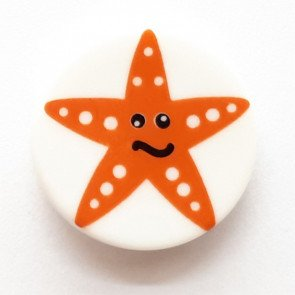 Novelty Button 11/16 (17mm) - Starfish