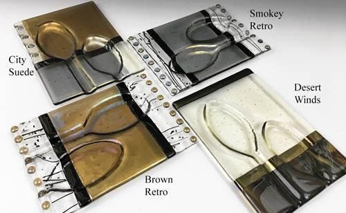 Fused Glass 2X Spoon Rest / Me2U