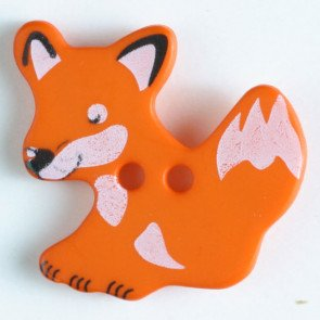 Novelty Buttons Fox 1(25mm)