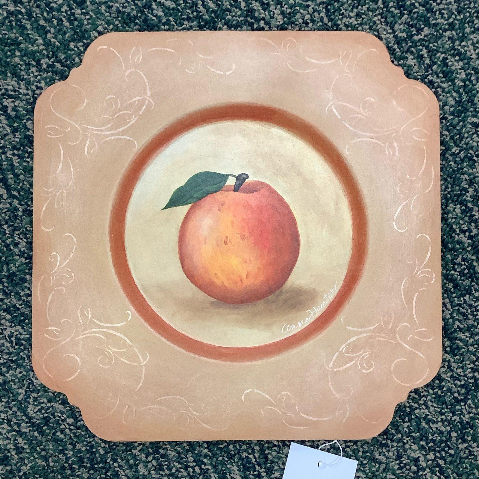 15 - Tin Peach plate