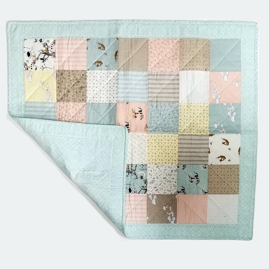 28-Mint Green Baby Quilt