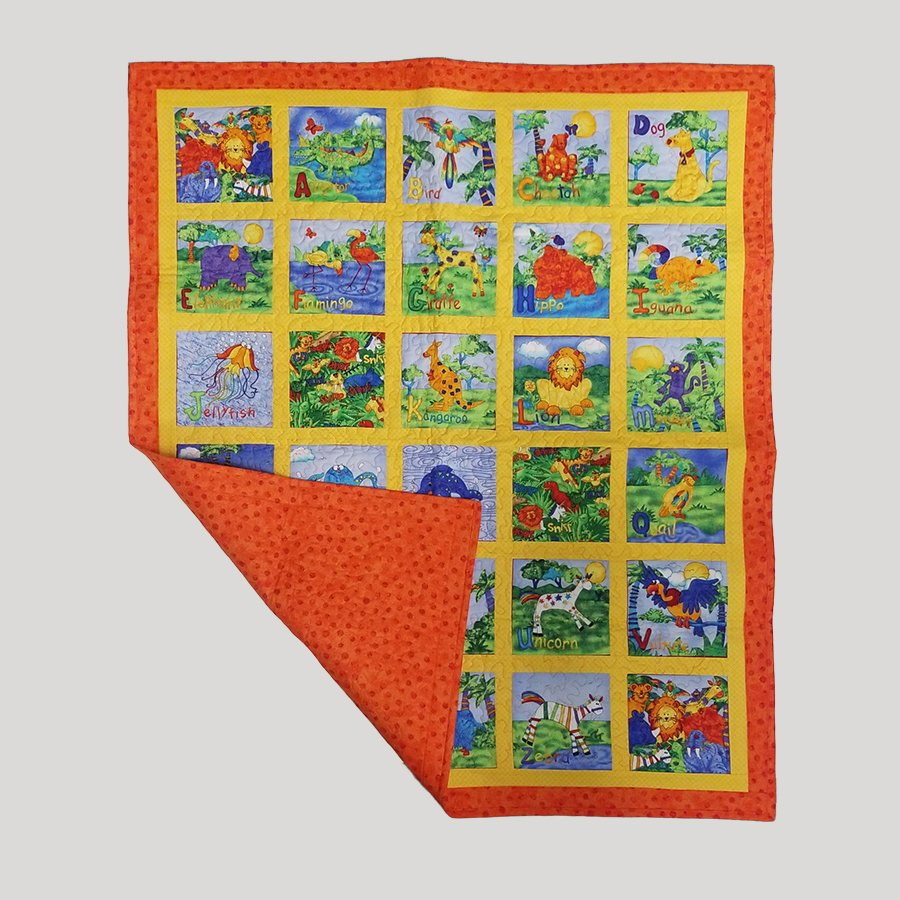 28-Animal Alphabet Baby Quilt
