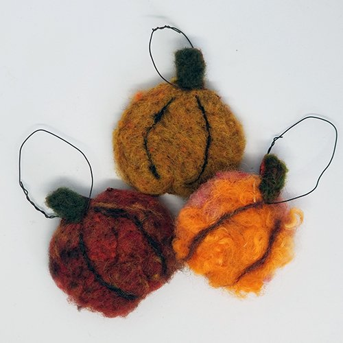 Fall Felted Ornaments