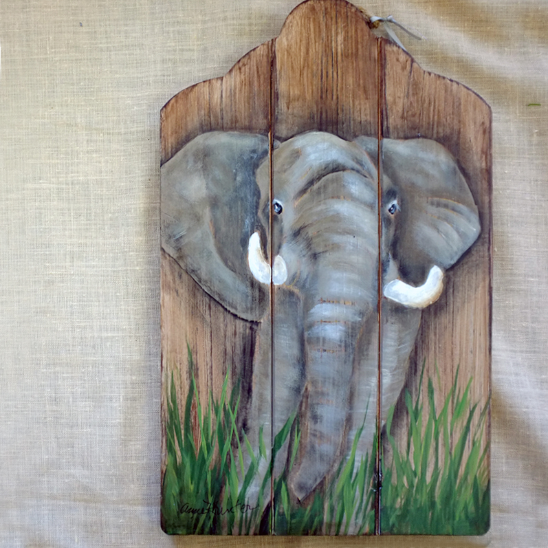 15-Elephant arched board