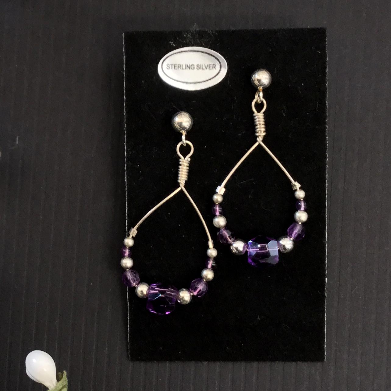 37-amethyst and sterling earrings