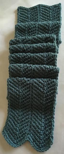 Ripples In Tunisian Crochet