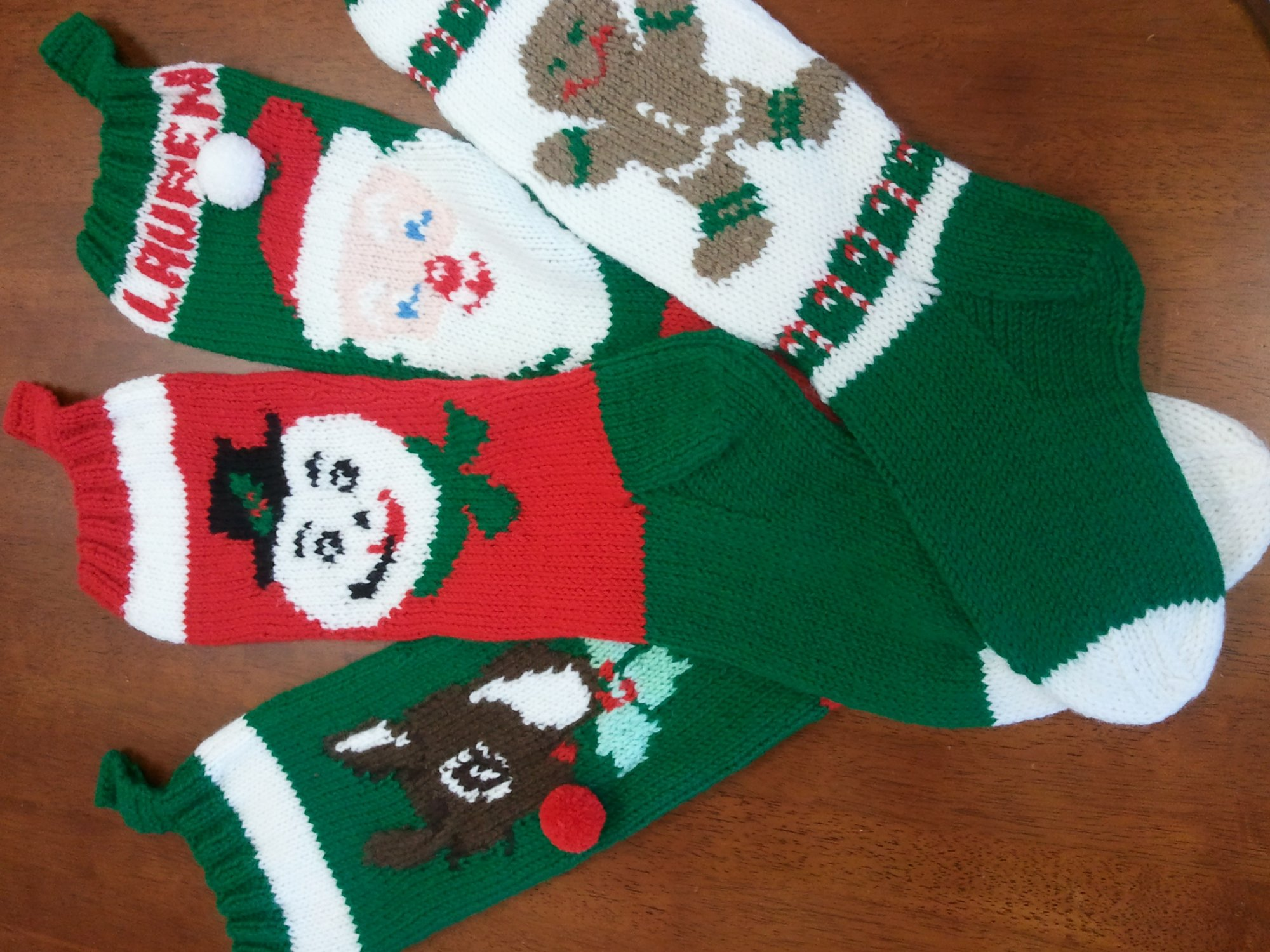 805-Knitting: Knitted Christmas Stocking