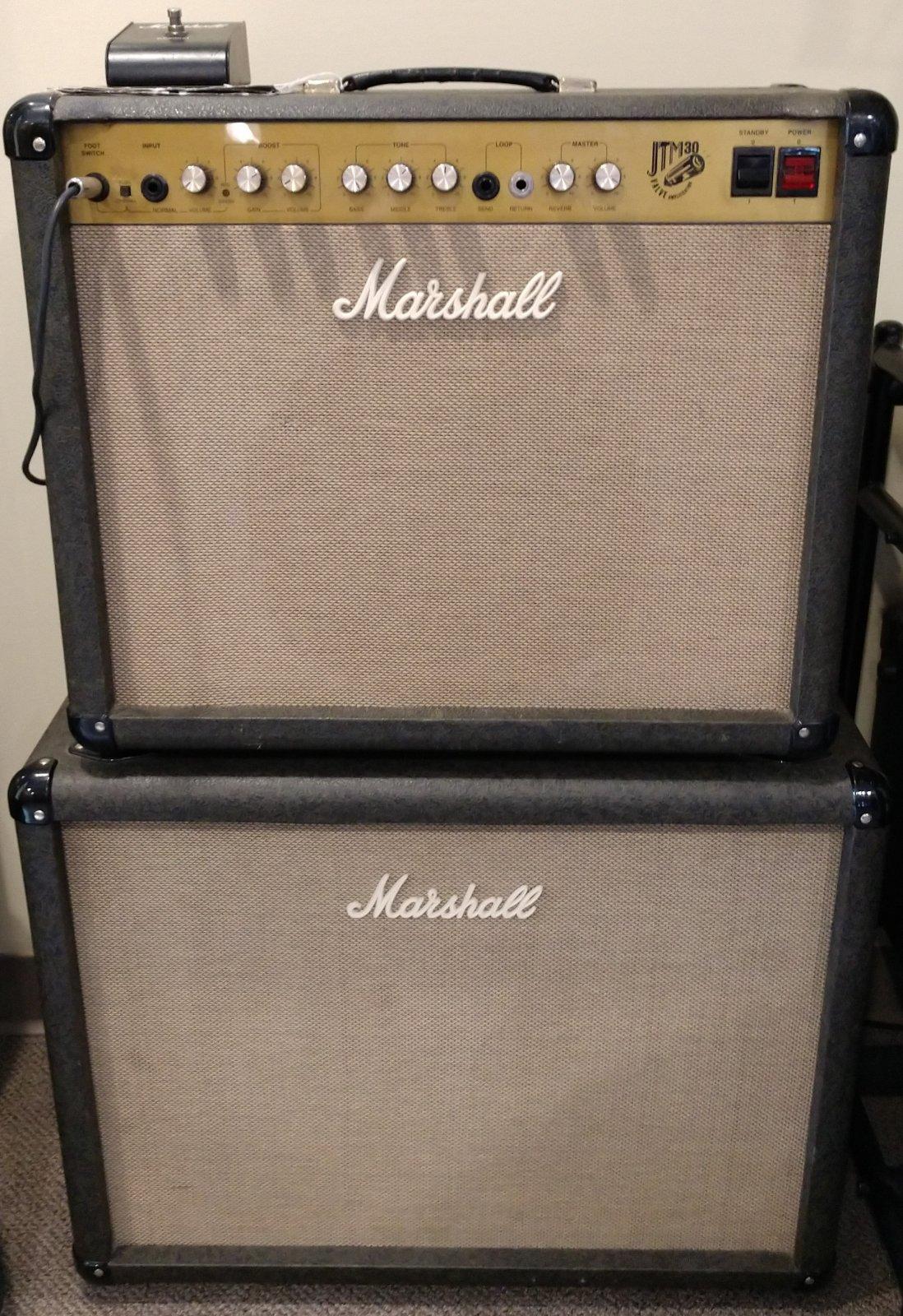 AMPLIFIER - 80s era Marshall JTM 30 w/ Matching 2x12 Cab & Covers - Tube