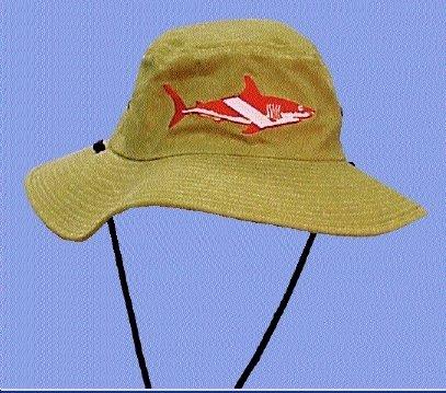 Outback Hat w/Shark & flag, Large