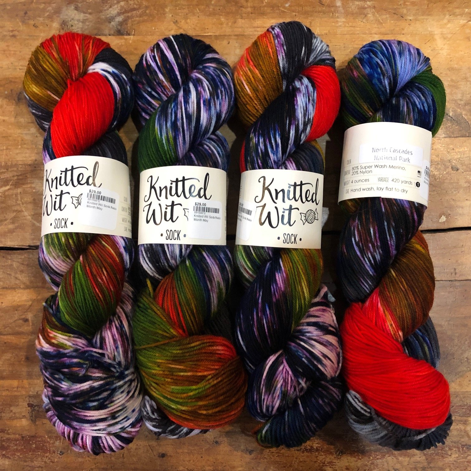 Knitted Wit Sock National Park - pre order
