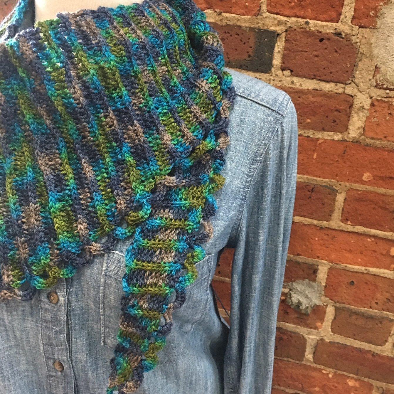 River Runs Through Shawl Crochet