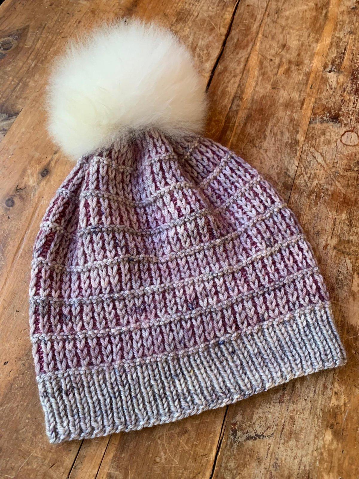 Slipped Rib Hat  - Yarn