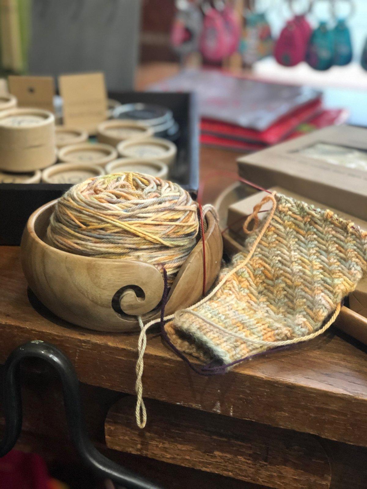 Yarn Bowl Wood Furls
