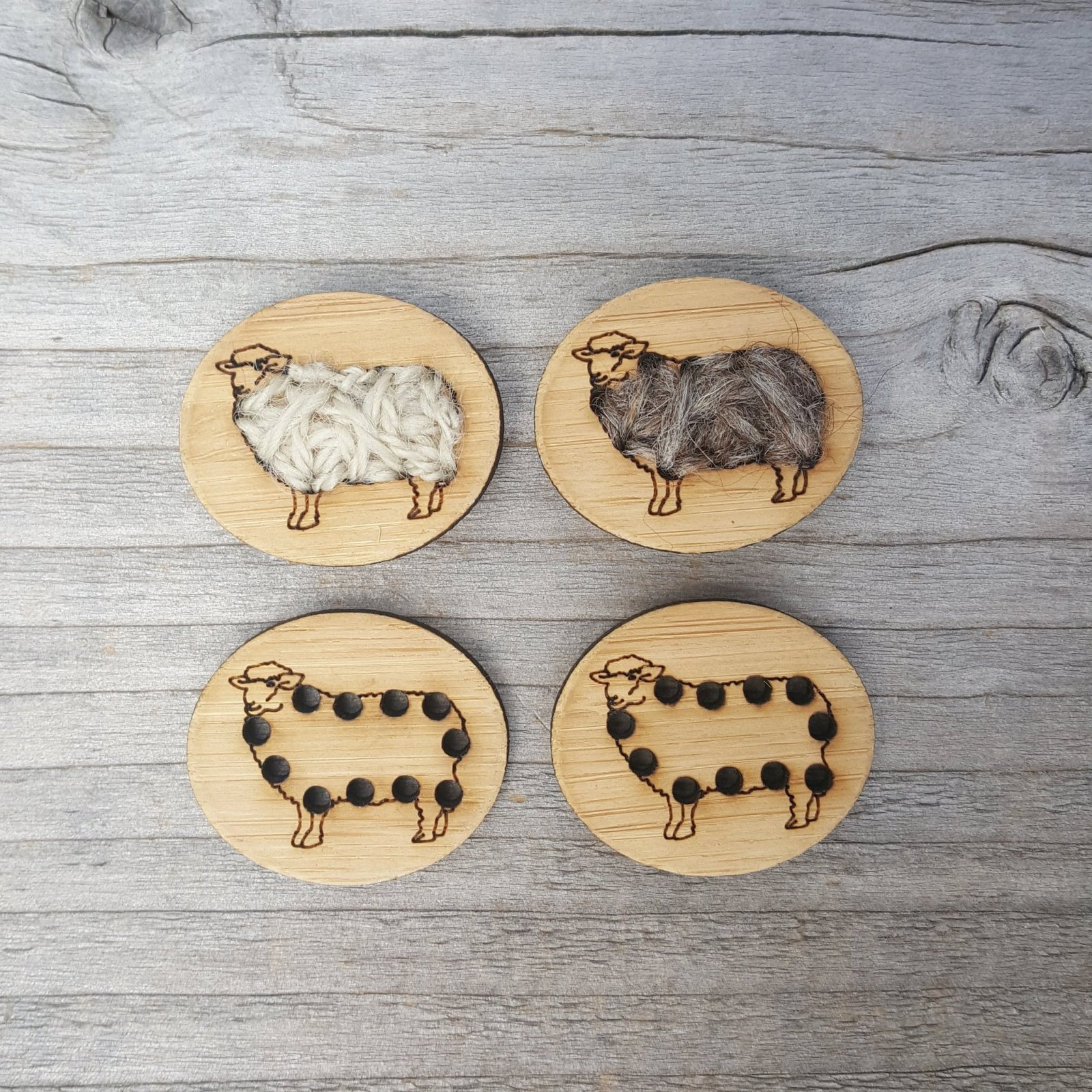 Sheep Buttons - Card of 4
