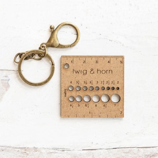 Ruler Gauge Keychain