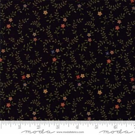 Item#11022.E - Fresh Cut Flowers Black - Moda - Kansas Troubles - Bolt#11022.E